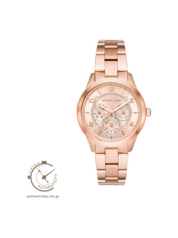 Michael Kors Runway Γυναικείο MK6589 Ροζ χρυσο