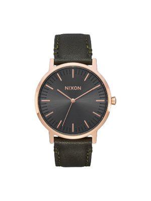 Nixon Porter Leather A1058-2441-00 μαύρο λουράκι