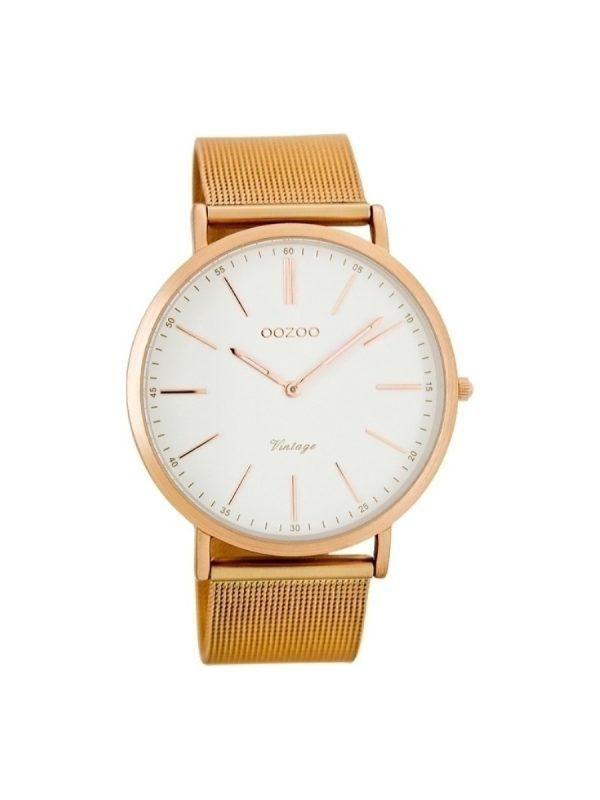 Ρολόι Oozoo vintage C7390 γυναικειο ροζ χρυσο