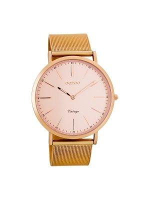 Ρολόι Oozoo vintage C7391 γυναικειο ροζ χρυσο