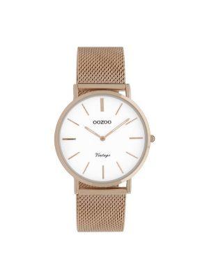 Ρολόι Oozoo C9918 vintage γυναικειο ροζ χρυσο
