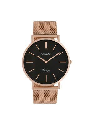 Ρολόι Oozoo C9925 vintage unisex ροζ χρυσο
