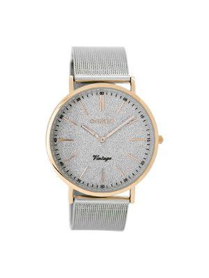 Ασημί ρολόι Oozoo C8800 vintage 40mm