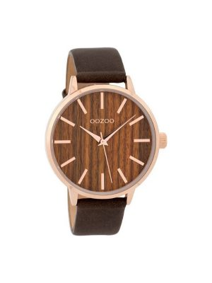 Γυναικείο ρολόι Oozoo timepieces C9253 cherry wood