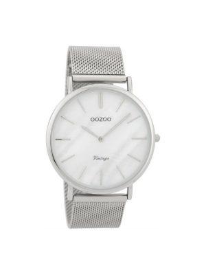 Unisex Oozoo C9360 vintage ασημί ρολόι