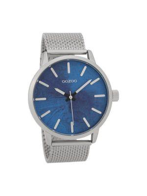 Ασημί Ρολόι Oozoo Timepieces C9656 μπρασελέ