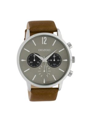 Ανδρικό ρολόι Oozoo C10357 Καφέ λουράκι