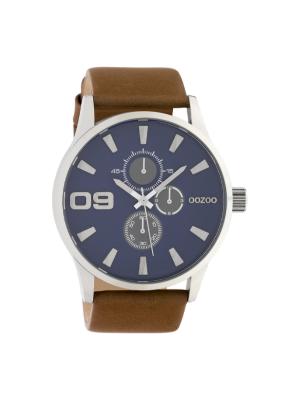 Ανδρικό ρολόι Oozoo C10346 Καφέ λουράκι