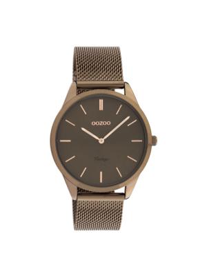 Γυναικείο ρολόι Oozoo C20009 Καφέ λουράκι