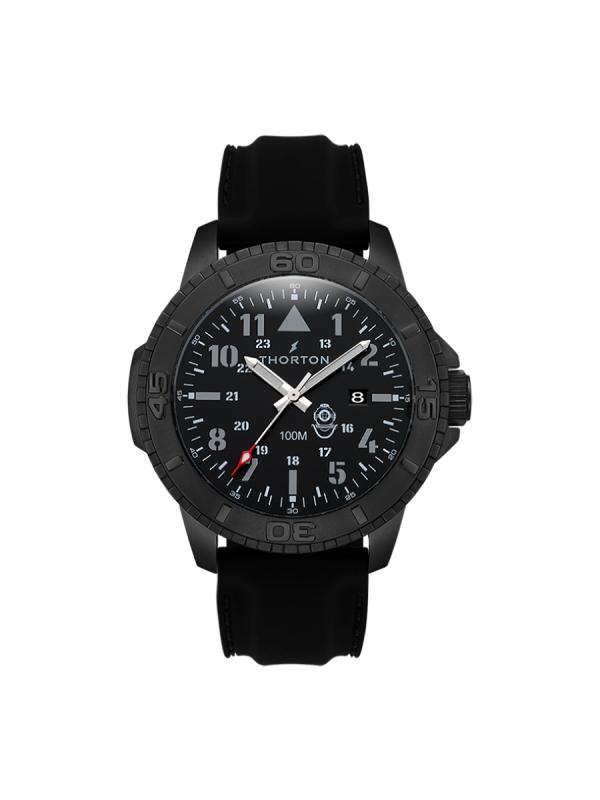 Ανδρικό ρολόι Thorton Odin 9204311 Μαύρο