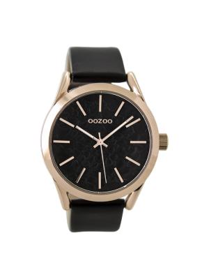 Γυναικείο ρολόι Oozoo C9474 Μαύρο/Ροζ χρυσό
