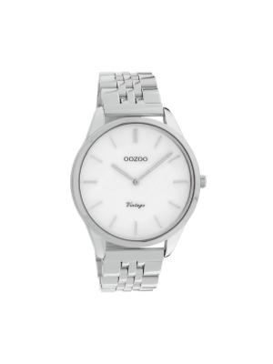 Unisex ρολόι Oozoo C9980 Ασημί μπρασελέ
