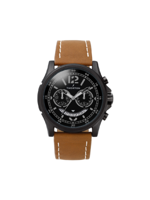 Ανδρικό ρολόι Thorton Ivar 9007112 Καφέ