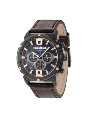 Ανδρικό ρολόι Police PL15047JSB03 Καφέ
