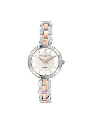 Γυναικείο ρολόι Trussardi R2453137505 Ασημί/Ροζ