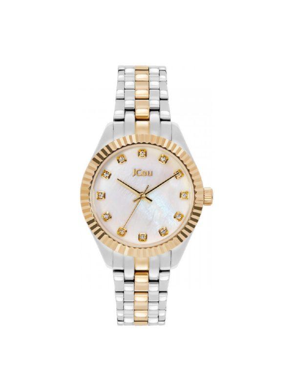 Γυναικείο ρολόι JCOU LUCILLE JU20000-3 Ασημί-Χρυσό