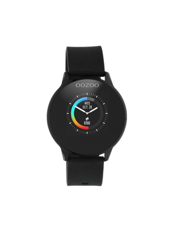 Unisex ρολόι Oozoo Smartwatch Q00115 Μαύρο Λουράκι
