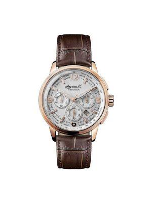 Ανδρικό ρολόι Ingersoll Regent I00101 Καφέ Λουράκι