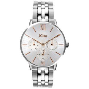 Γυναικείο ρολόι JCOU Felicity JU19053-3 Ασημί