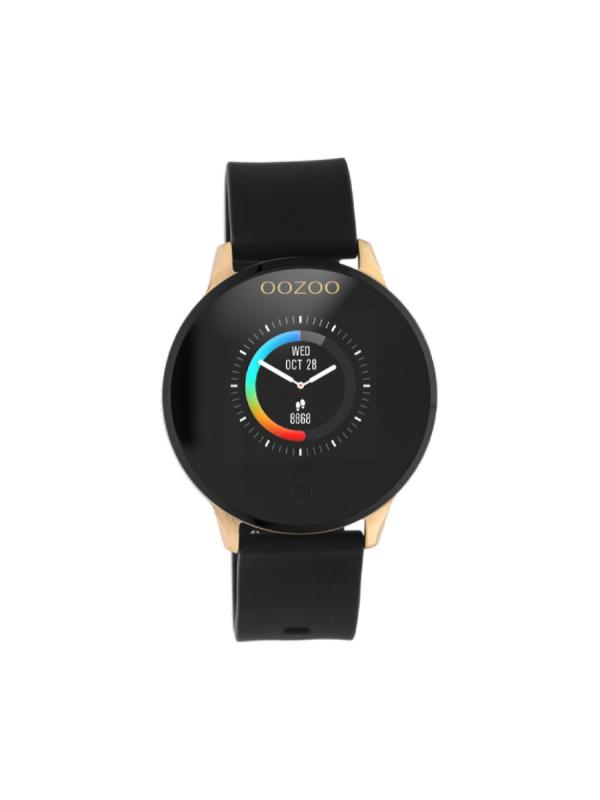 Unisex ρολόι Oozoo Smartwatch Q00114 Μαύρο Λουράκι