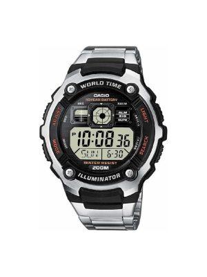 Ανδρικό ρολόι Casio AE-2000WD-1AVEF Ασημί