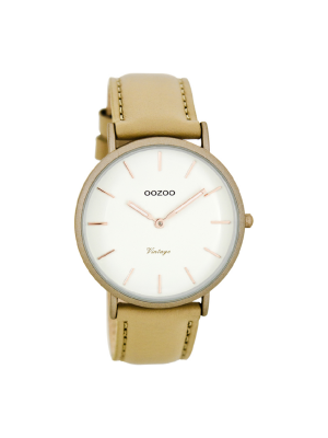 Unisex ρολόι Oozoo C7735 Μπεζ