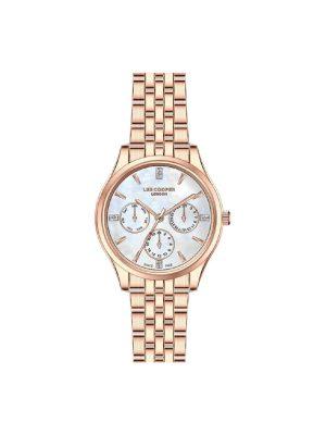 Γυναικείο ρολόι Lee Cooper LC07037.410 Ροζ χρυσό