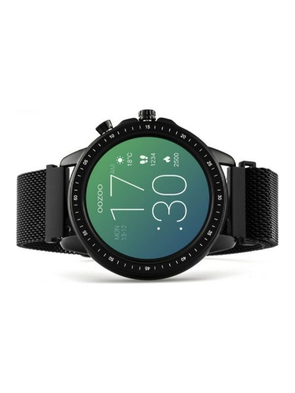 Oozoo smartwatch Q00309 45mm μαύρο
