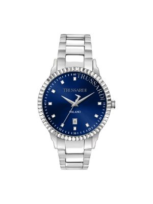 Ανδρικό ρολόι Trussardi T-Bent R2453141007 Ασημί