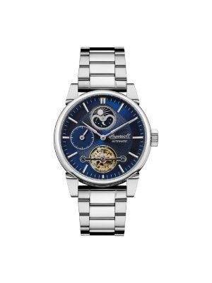 Ανδρικό ρολόι Ingersoll Swing I07501 Ασημί Μπρασελέ