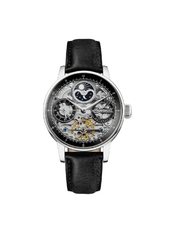 Ανδρικό ρολόι Ingersoll Jazz I07701 Μαύρο Λουράκι