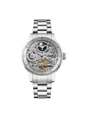 Ανδρικό ρολόι Ingersoll Jazz I07703 Ασημί Μπρασελέ
