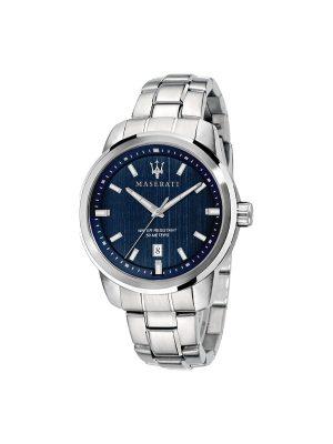 Ανδρικό Ρολόι Maserati Successo R8853121004 Ασημί