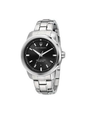 Ανδρικό Ρολόι Maserati Successo R8853121006 Ασημί