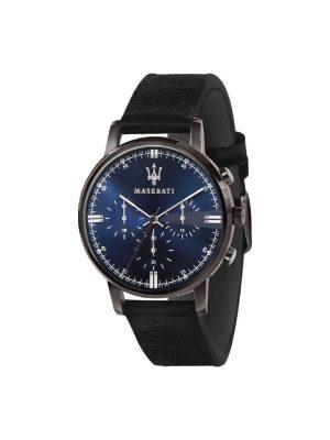 Ανδρικό Ρολόι Maserati Eleganza R8871630002 Μαύρο
