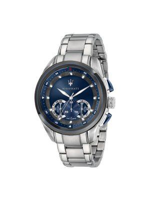 Ανδρικό Ρολόι Maserati Traguardo R8873612014 Ασημί