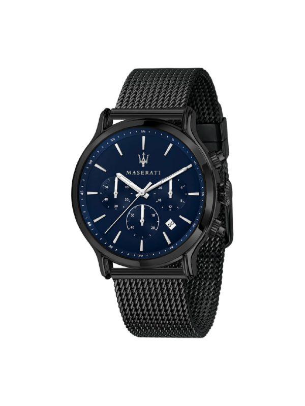 Ανδρικό Ρολόι Maserati Epoca R8873618008 Μαύρο