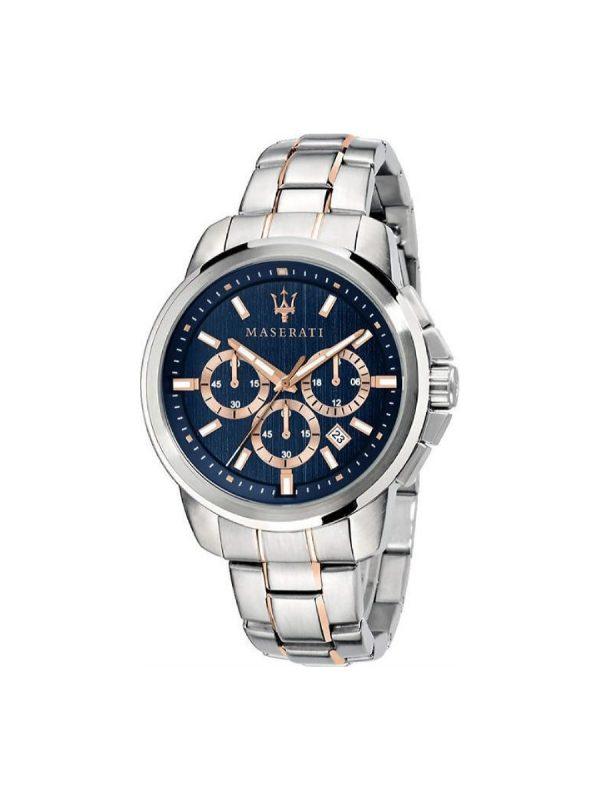 Ανδρικό Ρολόι Maserati Successo R8873621008 Ασημί