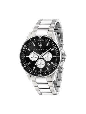 Ανδρικό Ρολόι Maserati Sfida R8873640004 Ασημί