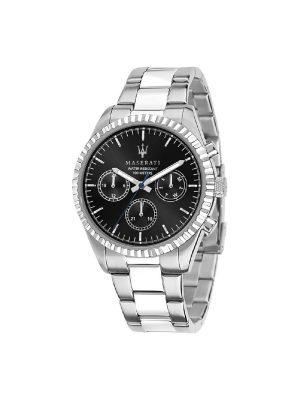 Ανδρικό Ρολόι Maserati Competizione R8853100023 Ασημί