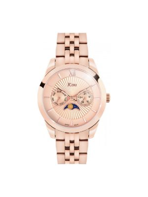 Γυναικείο ρολόι JCOU Celeste JU18017-2 Ροζ Χρυσό