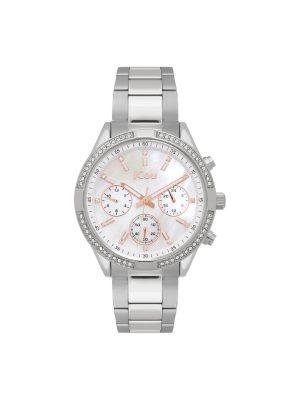 Γυναικείο ρολόι JCOU Gloria JU19054-3 Ασημί